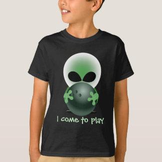 Camiseta Cara verde pequena de rolamento