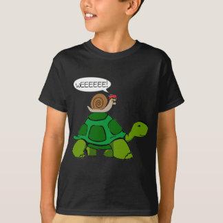 Camiseta Caracol & tartaruga - duo de Turbo