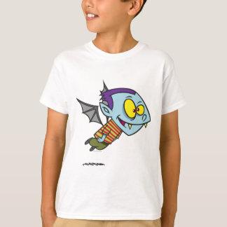 Camiseta caráter parvo do menino do bastão de vampiro