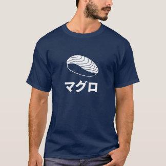 Camiseta Caráteres japoneses do sushi de Maguro (atum)