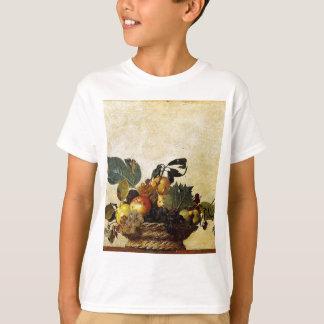 Camiseta Caravaggio - cesta da fruta - trabalhos de arte