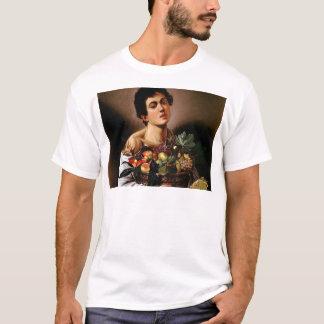 Camiseta Caravaggio - menino com uma cesta de trabalhos de