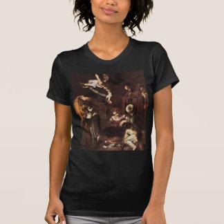 Camiseta Caravaggio - natividade com St Francis & St