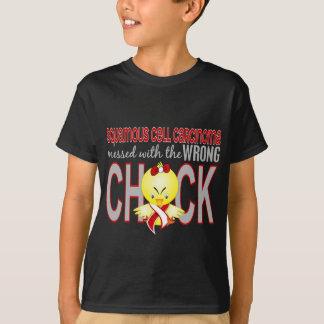 Camiseta Carcinoma de pilha de Squamous sujada com pintinho