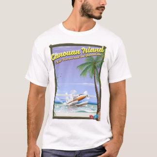 Camiseta Caribe, cartaz do paraíso das ilhas de Canouan