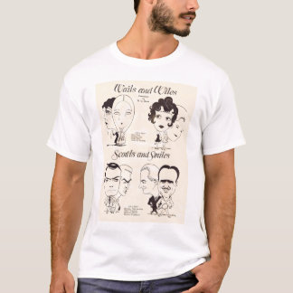 Camiseta Caricatura de Doug Fairbanks Clara Bow Lillian