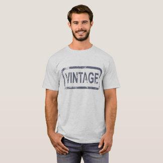 "Camiseta Carimbo de borracha ""vintage"" no quadro cinzento"