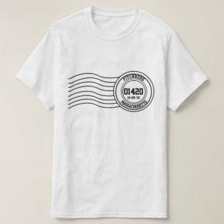 Camiseta Carimbo postal do aniversário da cidade natal seu