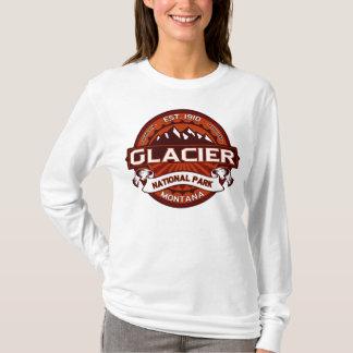 Camiseta Carmesins do parque nacional de geleira