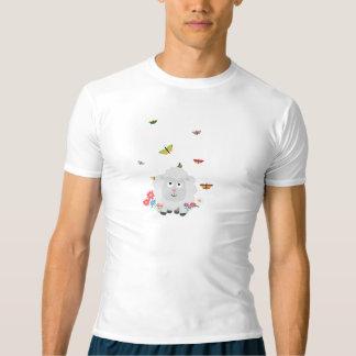 Camiseta Carneiros com flores e borboletas Z1mk7
