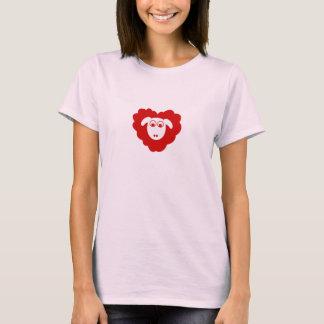 Camiseta Carneiros dados forma coração