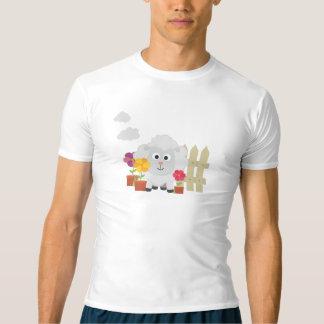 Camiseta Carneiros de jardinagem com flores Z67e8