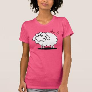 Camiseta Carneiros de sorriso engraçados