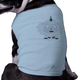 Camiseta Carneiros do unicórnio com arco-íris Zffz8