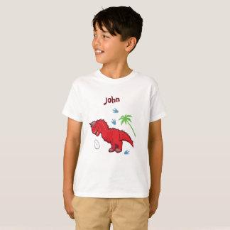 Camiseta Carnotaurus do dinossauro do bebê