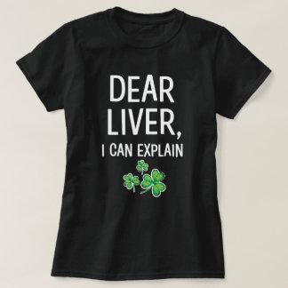 Camiseta Caro fígado eu posso explicar o T engraçado do Dia