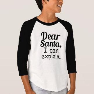 Camiseta Caro papai noel eu posso explicar o feriado