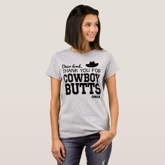 Camiseta Caro senhor, obrigado para bumbuns do vaqueiro.