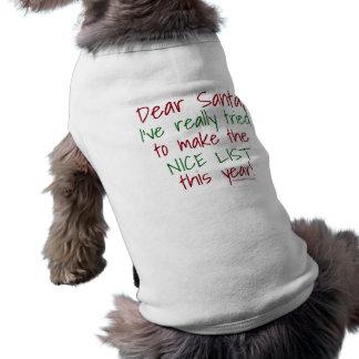 Camiseta Caro T do cão do papai noel