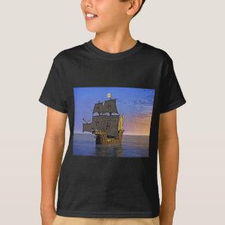 Camiseta Carrack medieval no crepúsculo