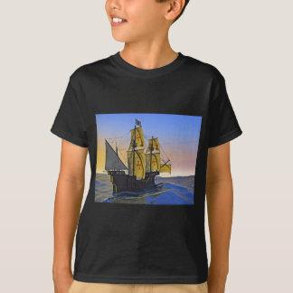 Camiseta Carrack medieval que deixa a água áspera no por do