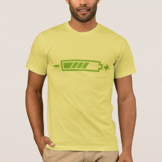 Camiseta Carregado - elétrico híbrido solar da bateria