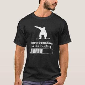Camiseta Carregamento das habilidades da snowboarding