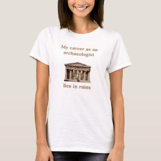 Camiseta Carreira como no arqueólogo