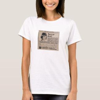 Camiseta Carreira da linha aérea do Stewardess do vintage