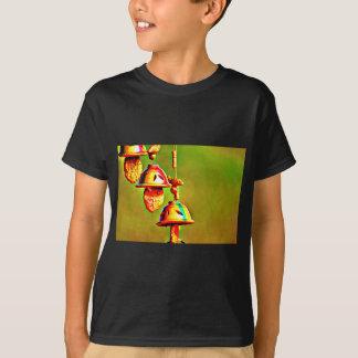 Camiseta Carrilhões de madeira coloridos
