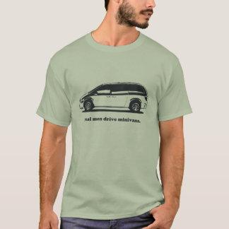 Camiseta Carrinhas reais da movimentação dos homens