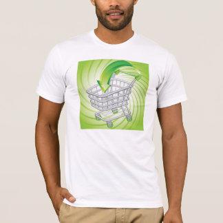 Camiseta Carrinho de compras do supermercado