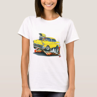 Camiseta Carro 1957 amarelo de Chevy Belair