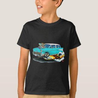 Camiseta Carro 1957 de turquesa do nómada de Chevy