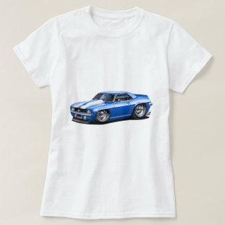 Camiseta Carro 1969 Azul-Branco de Camaro SS