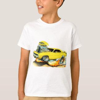Camiseta Carro 1970 amarelo de Plymouth Cuda