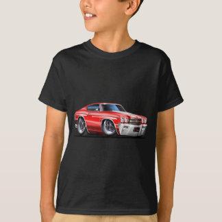 Camiseta Carro 1970 Vermelho-Branco de Chevelle