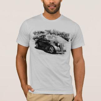Camiseta Carro clássico em preto e branco