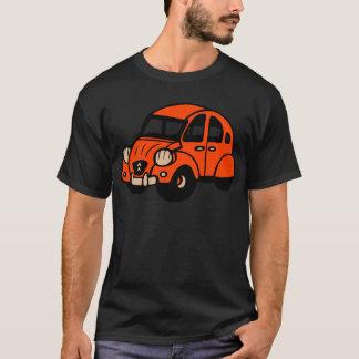 Camiseta carro de 2 franceses do vintage do cv