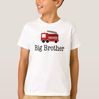 Camiseta Carro de bombeiros do vermelho do big brother