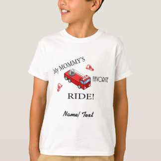 Camiseta Carro de bombeiros - o PASSEIO favorito da minha