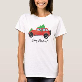 Camiseta Carro de condução com crista chinês com a árvore