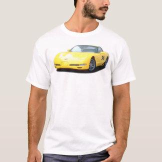 Camiseta Carro de corridas amarelo de Corveta Z06