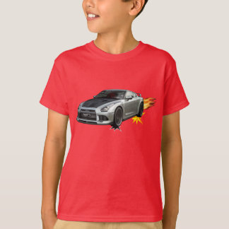 Camiseta Carro de corridas flamejante legal