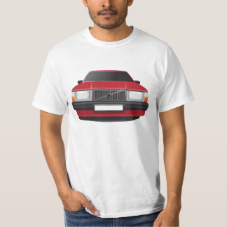 Camiseta Carro de família sueco do anos 80 - 90s, vermelho