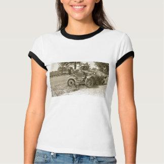 Camiseta Carro destruição cidade MI julho de 1930 marinho s
