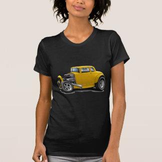 Camiseta carro do amarelo do hot rod dos anos 30