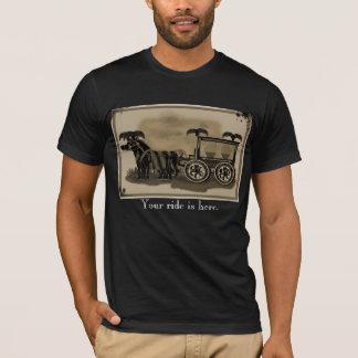 Camiseta carro fúnebre antiquado