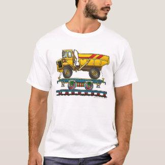 Camiseta Carro liso do trem com roupa da estrada de ferro