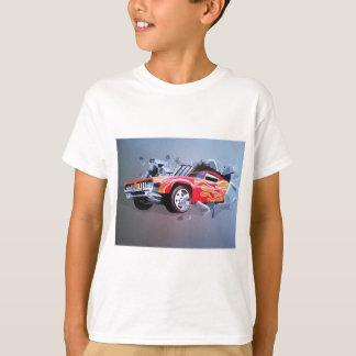 Camiseta Carro que deixa de funcionar através da parede